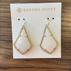 Kendra Scott Alex Gold and White Drop Earrings NEW